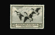 Usa Federal Duck Stamp-mint Ogandnh Xf/super B Srw3 Post Office Fresh Very Smal