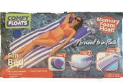 Comfy Floats Sun Bed Large Swimming Pool Float Memory Foam No Air Needed 65 In
