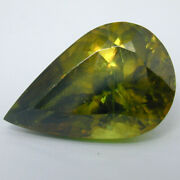 9.24cts Natural Pear Shape Sphene Olive Green Color Loose Gemstone From Spain