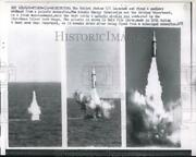 1962 Press Photo U.s.launched And Fired A Nuclear Warhead From Polaris Submarine