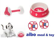 Sony Aibo Accessories Meal Bowl + Aibone + Dice Meal And Toy Set Ai Dog Robbot