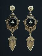 Antique Genuine Victorian Natural Pearl Taille Dand039epargne Tassel Earrings