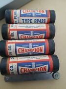 Lot Of 4 Champion Spark Plugs Type Rp43s Fine-wire Vintage Free Shipping