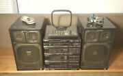 Sony Fh-215r Mini Component System With Cdp-17f Cd Player, Remote - Boombox Apm