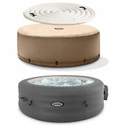 Intex Simplespa 4 Person Inflatable Portable Hot Tub W/ Energy Efficient Cover