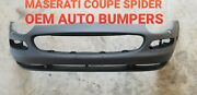 Maserati Coupe Spyder Front Bumper Cover With Reflector Holes Genuine Primed