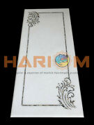 30x60 White Marble Counter Top Dining Table Paua Shell Inlay Home Decors W447