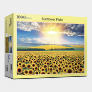 1000 Piece Jigsaw Puzzle Landscapes Sunflower Fields Sun Shining Day For Kids