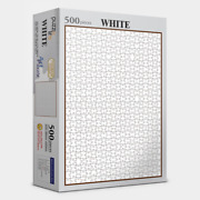 Jigsaw Puzzles 500 Pieces Hard Level Just White Jigsaw For Hobby At Home White
