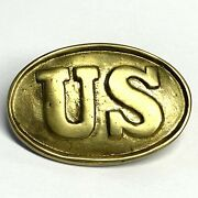 Antique Style Military Civil War Confederate Us Belt Buckle 3 Prong Brass