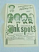 Ink Spots Signed Paper Poster R And B Soul Singers Musical Group 1930s / 70s