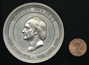 1882 Silver Peabody Education Fund Medal - Huge 64mm/103.5 Grams 1 Of 26 Issued