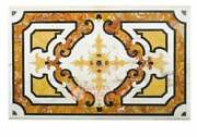 5and039x3and039 White Marble Center Table Top Marquetry Carnelian Art Hallway Decor E1640