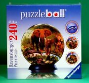 New Sealed Ravensburger Wildlife 240 Piece 3d Puzzle Ball Jigsaw With Stand