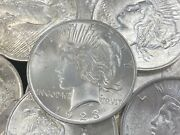 Hsandc 1923 Peace Dollar Solid Roll - 20 Coins - Brilliant Uncirculated