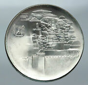 1968 Israel Jewish Old Temple Gate Jerusalem View Silver 10 Lirot Coin I85583