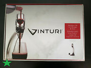 Vinturi Deluxe Essential Red Pourer And Decanter Tower Stand - Damaged