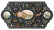 Marble Conference Decorative Dining Table Top Inlay Furniture |52x38 E1662