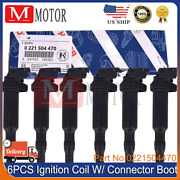0221504470 For Bmw Ignition Coil 6 Pack Updated W/ Connector Boot Genuine Bosch