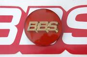 1 Real Bbs Red With Gold 3d Logo 56mm Center Cap 56.24.012 Subaru And Mitsubishi
