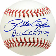 Pete Rose Autographed Signed Mlb Baseball Reds All Century Pr Holo 178278