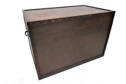 Large Antique English Carved Wood Trunk, Storage Or Blanket Box