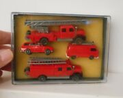 Wiking Germany Ho 187 Fire Department Emergency Vehicle Presentation Pack 1973