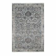 6and039x9and0391 Silk With Textured Wool Mughal Design Hand Knotted Rug R59164