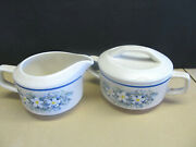 Lenox Dew Drops Creamer And Sugar Bowl With Lid - Excellent