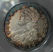 1814 Anacs Au50 O-103 1800and039s Capped Bust Half Dollar