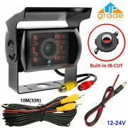 Truck Van Rear View Backup Reverse Camera Ir Night Vision + 10m Extension Cable