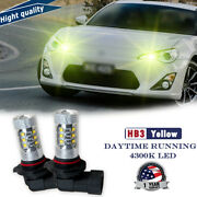 Upgrade 80w 2000lm 9005 Hb3 Yellow Led Daytime Running Light Drl Bulb For Toyota