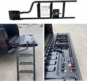 Truck Pickup Folding Steel Heavy Duty Bed Stairs Cargo Tailgate Ladder Step Up