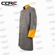Us Civil War Confederate Officer's Cavalry Double Breast Frock Coat All Sizes