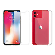 For Iphone 11 Pro Max 9h Clear Front Back Tempered Glass Screen Protector Lot