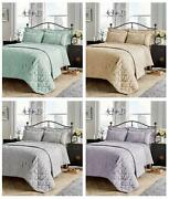 Luxury Savoy Bedspread Quilted Jacquard Throw And Pillowshams Set King 220x230 Cm