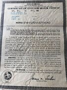 1955 Ford Thunderbird Certificate Of Title Coupe Truck Hotrod Collectible Rare