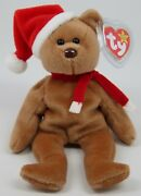 Mint Rare 1997 Holiday Teddy Ty Beanie Baby Brown Nose Pvc Pellets Tag Errors