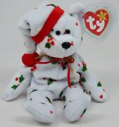 Mint Rare 1998 Holiday Teddy Ty Beanie Baby Pe Pellets Tag Errors