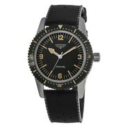 New Longines Heritage Skin Diver Black Dial Black Menand039s Watch L2.822.4.56.9