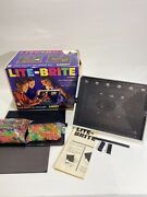 Vinyage Hasbro 1967 Lite-brite W/box, Lots Of Pins And Accessories
