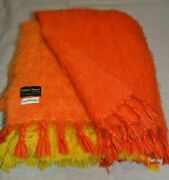 Vintage Wool Blanket Nana Suni Rare. 47 X 67 Thick And Very Fluffy. Finland