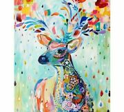 Reindeer Mosaic Diamond Painting Colorful Abstract Design Embroidery Decorations