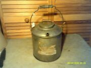 Antique Pc Penn Central Gasoline Can With Lid And Spout Railroad Train Rr Usa