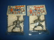 2 Knights Toy Sealed On Card Moc Vintage Dime Store 1960's Lot