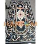 5and039x3and039 Marble Dining Table Top Precious Stone Birds Inlay Restaurant Decors B630