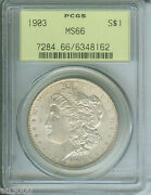 1903 1903-p Morgan Silver Dollar S1 Pcgs Ms66 Ms-66 Old Green Holder Ogh