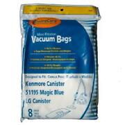 24x Vacuum Cleaner Bags 51195 For Kenmore Lg Magic Blue Type M Microfiltration