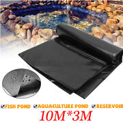 33x10ft Hdpe Fish Pond Liner Gardens Pool Membrane Reinforced Pools Landscaping