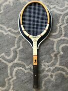 Vintage Old Spalding Wooden Tennis Racket Youth Jr Tournament 26 From Belgium